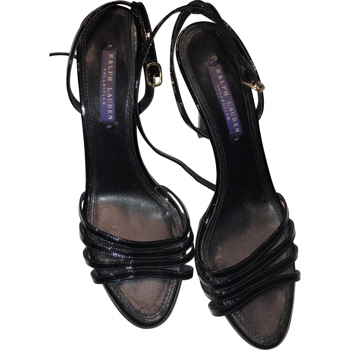 Ralph Lauren \N Black Leather Sandals for Women 37 EU