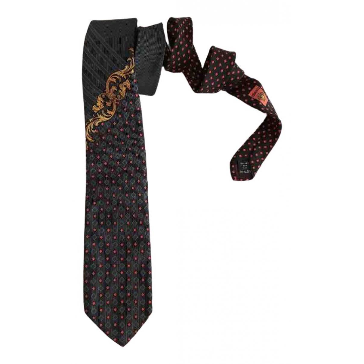 Versace - Cravates   pour homme en soie - bleu