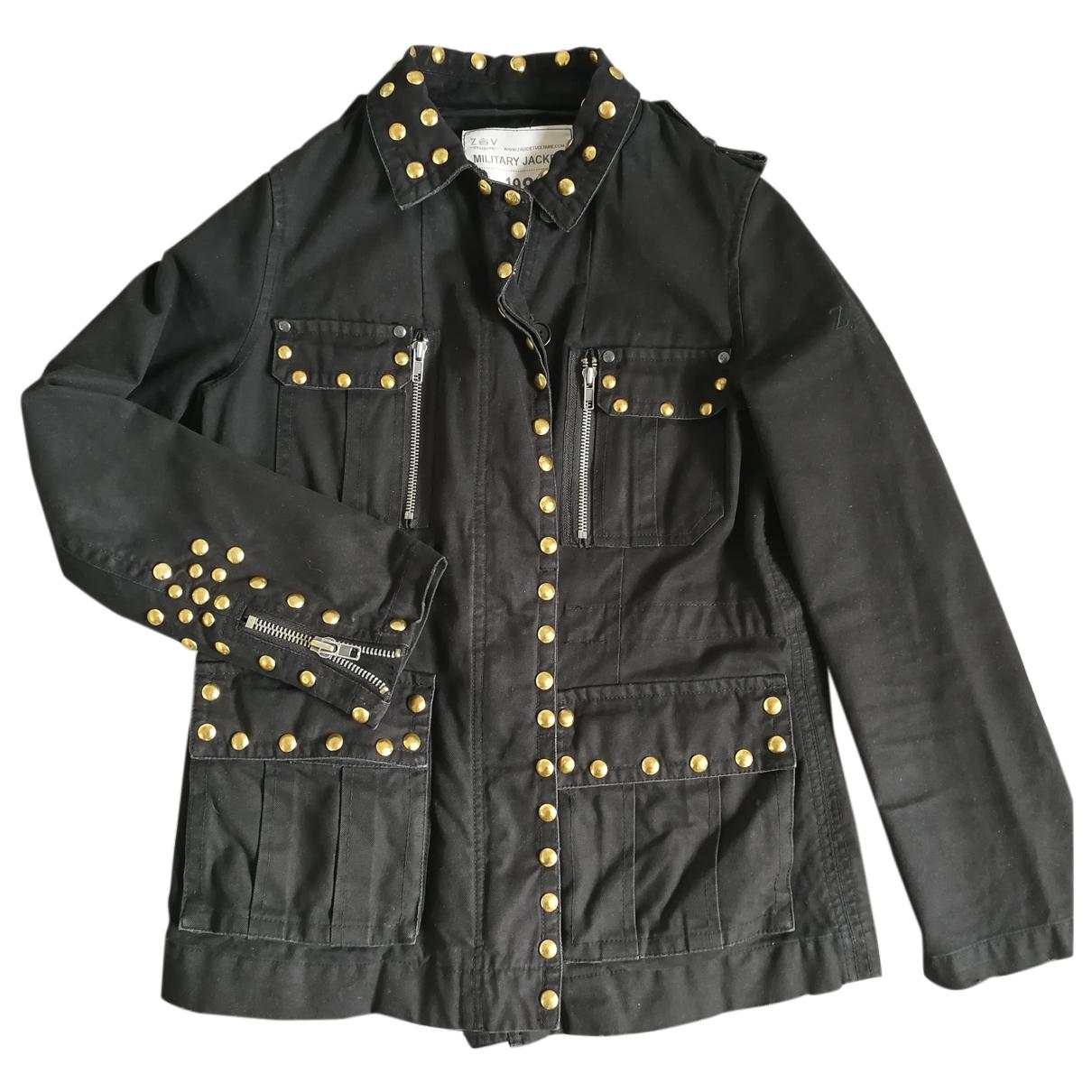 Zadig & Voltaire \N Black Cotton jacket for Women XS International