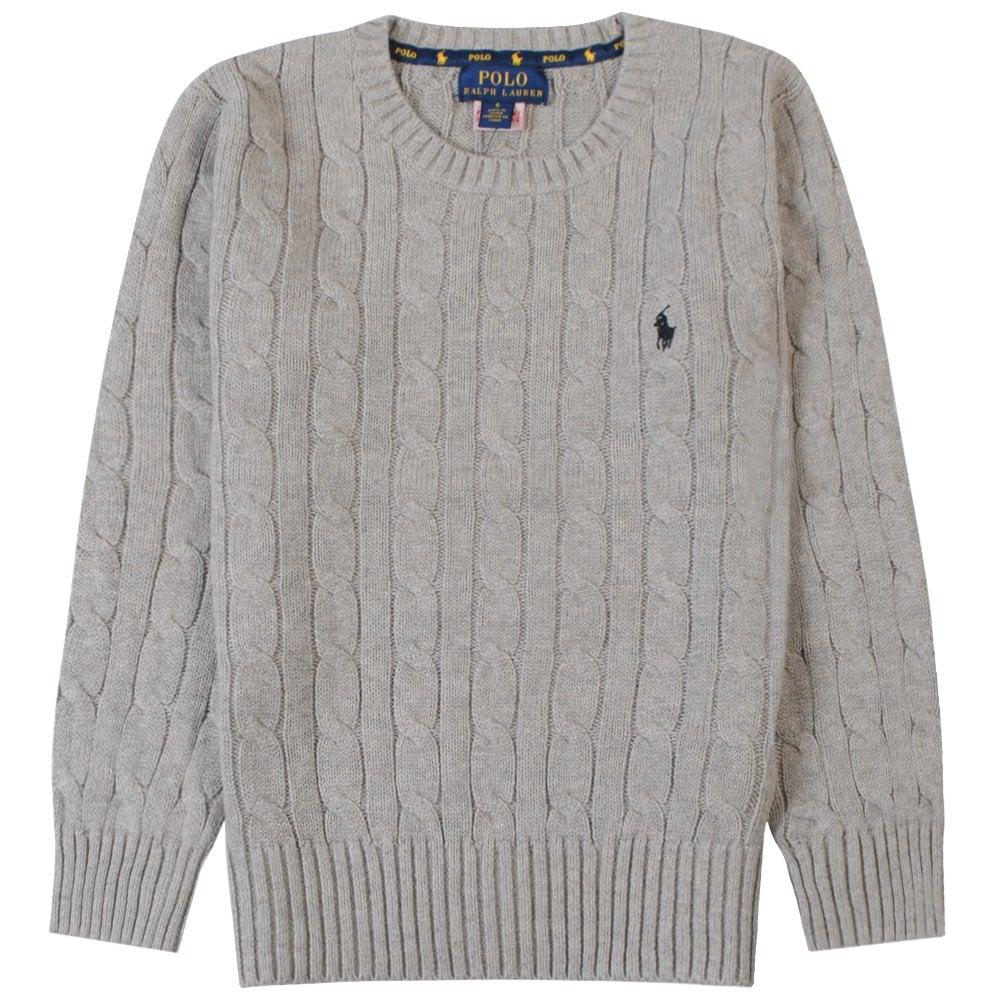 Ralph Lauren Kids Knitted Jumper Size: XL (18-20 YEARS), Colour: GREY