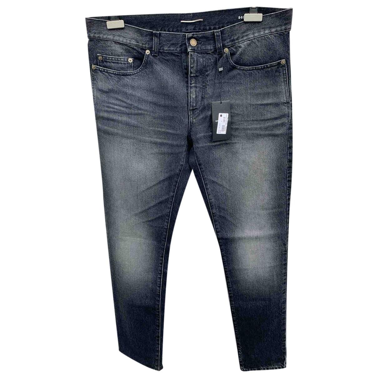 Saint Laurent \N Black Cotton Jeans for Men 36 US