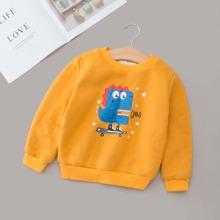 Sweatshirt mit Buchstaben und Karikatur Grafik