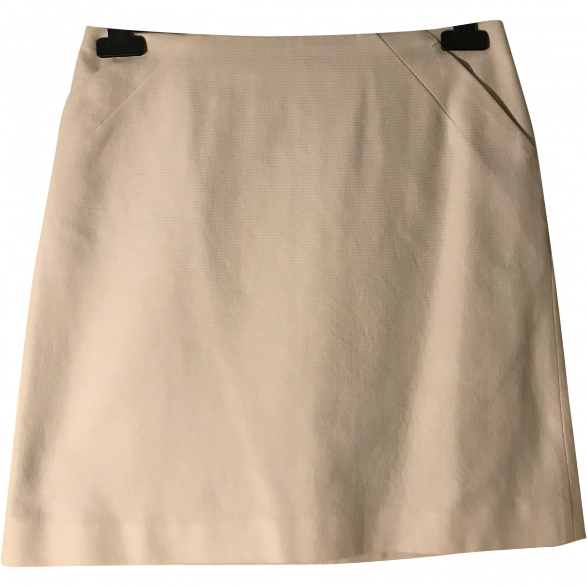 Paule Ka \N White Cotton skirt for Women 38 FR