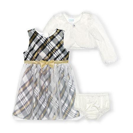 Nannette Baby Girls Sleeveless Dress Set, 3-6 Months , Yellow