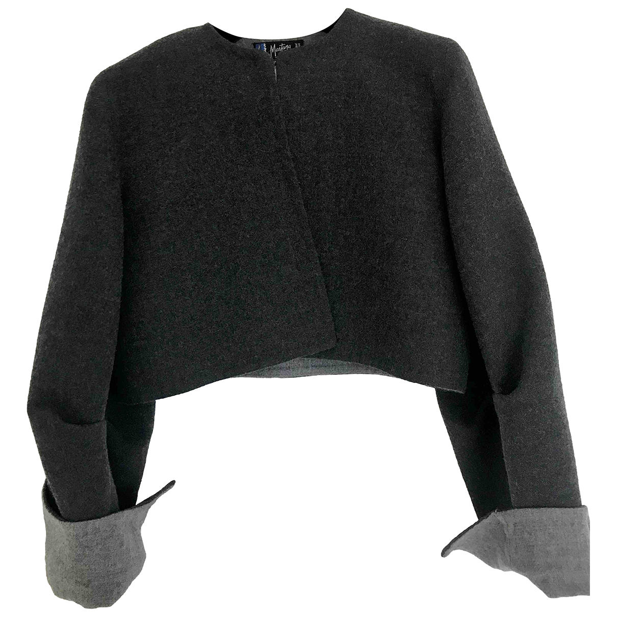Claude Montana \N Anthracite Wool jacket for Women 42 IT