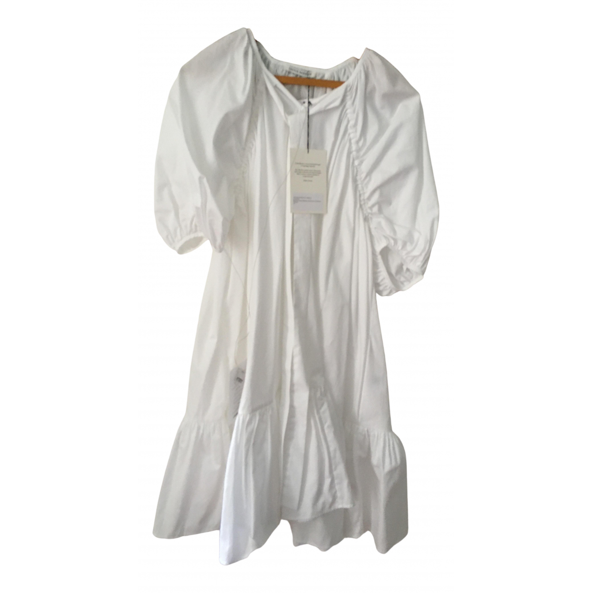 Cecilie Bahnsen \N Kleid in  Weiss Baumwolle
