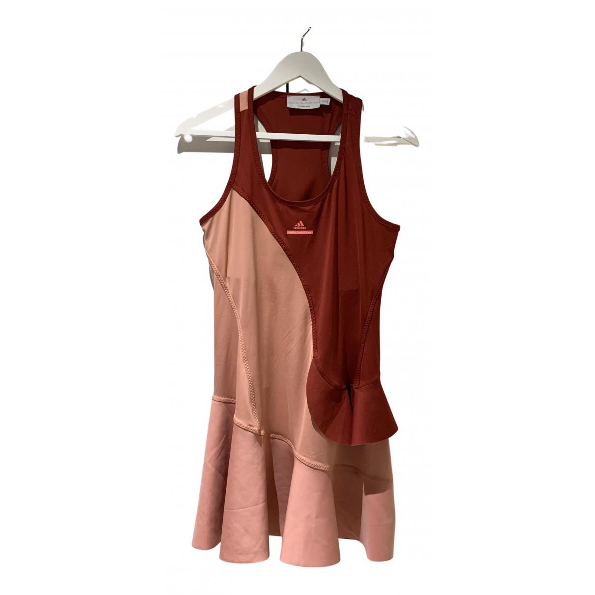 Adidas - Robe   pour femme en coton - elasthane - rouge