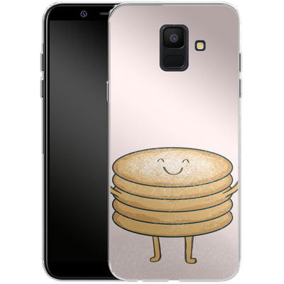 Samsung Galaxy A6 Silikon Handyhuelle - Pancake-man with Sugar von caseable Designs