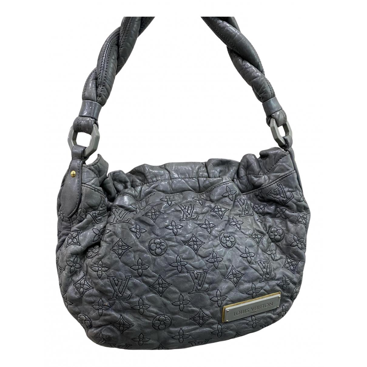 Louis Vuitton - Sac a main Olympe pour femme en cuir - gris