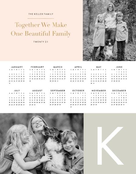 Calendar 11x14 Poster, Home Décor -A Simple Life