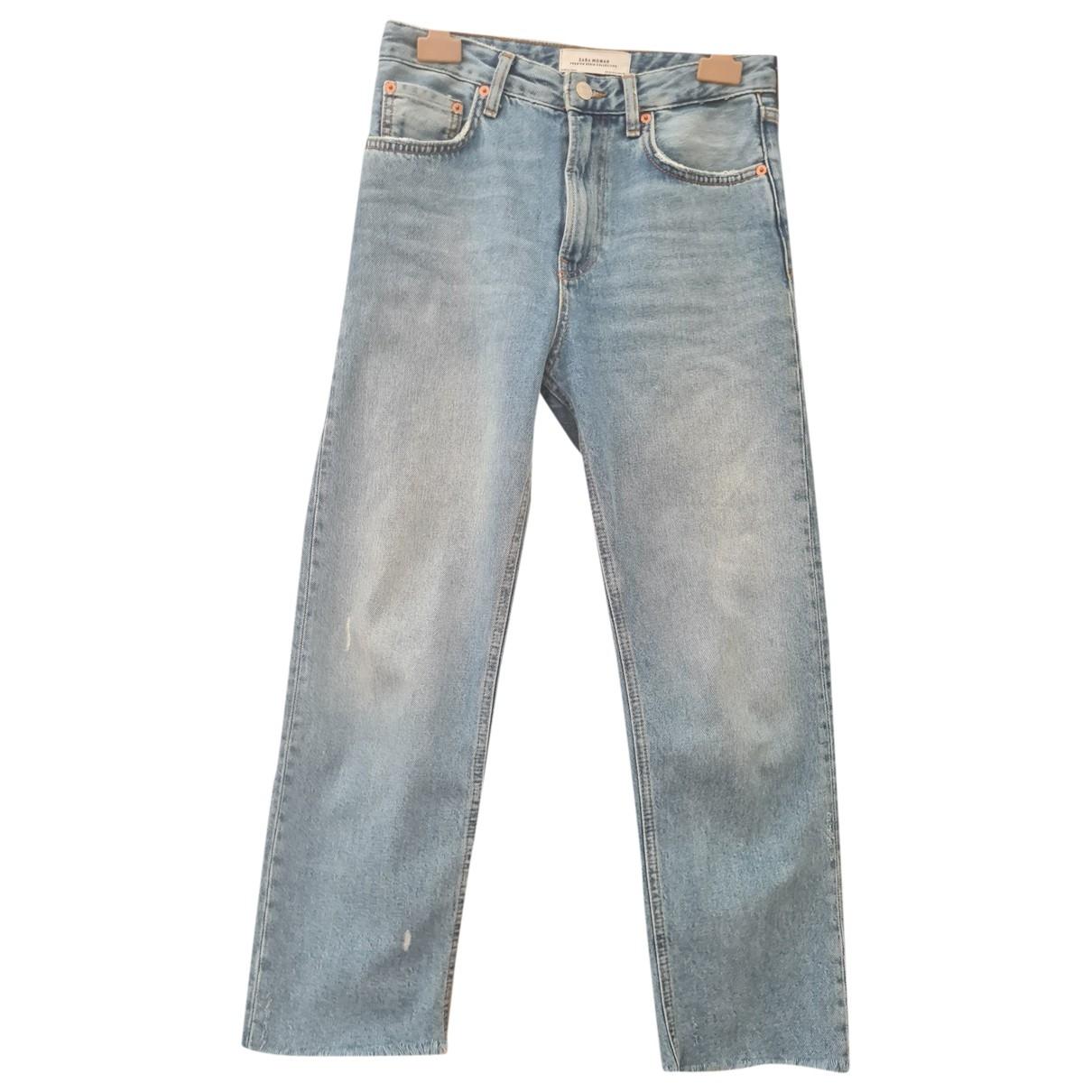 Zara \N Blue Cotton Jeans for Women 34 FR