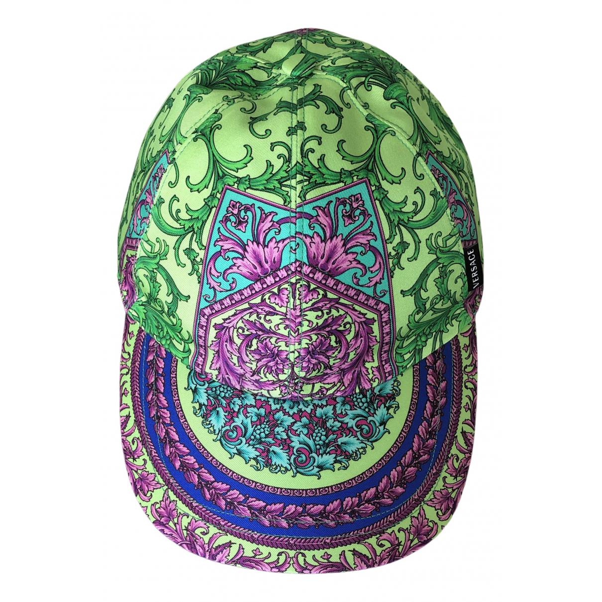 Versace - Chapeau & Bonnets   pour homme en soie - multicolore