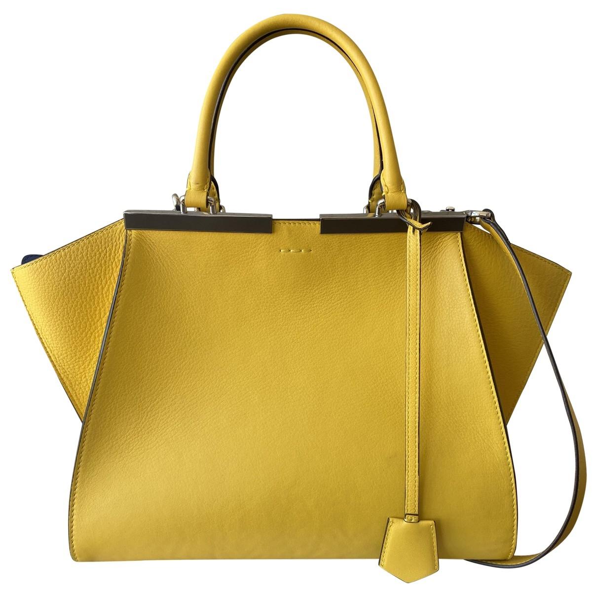 Fendi 3Jours Handtasche in  Gelb Leder