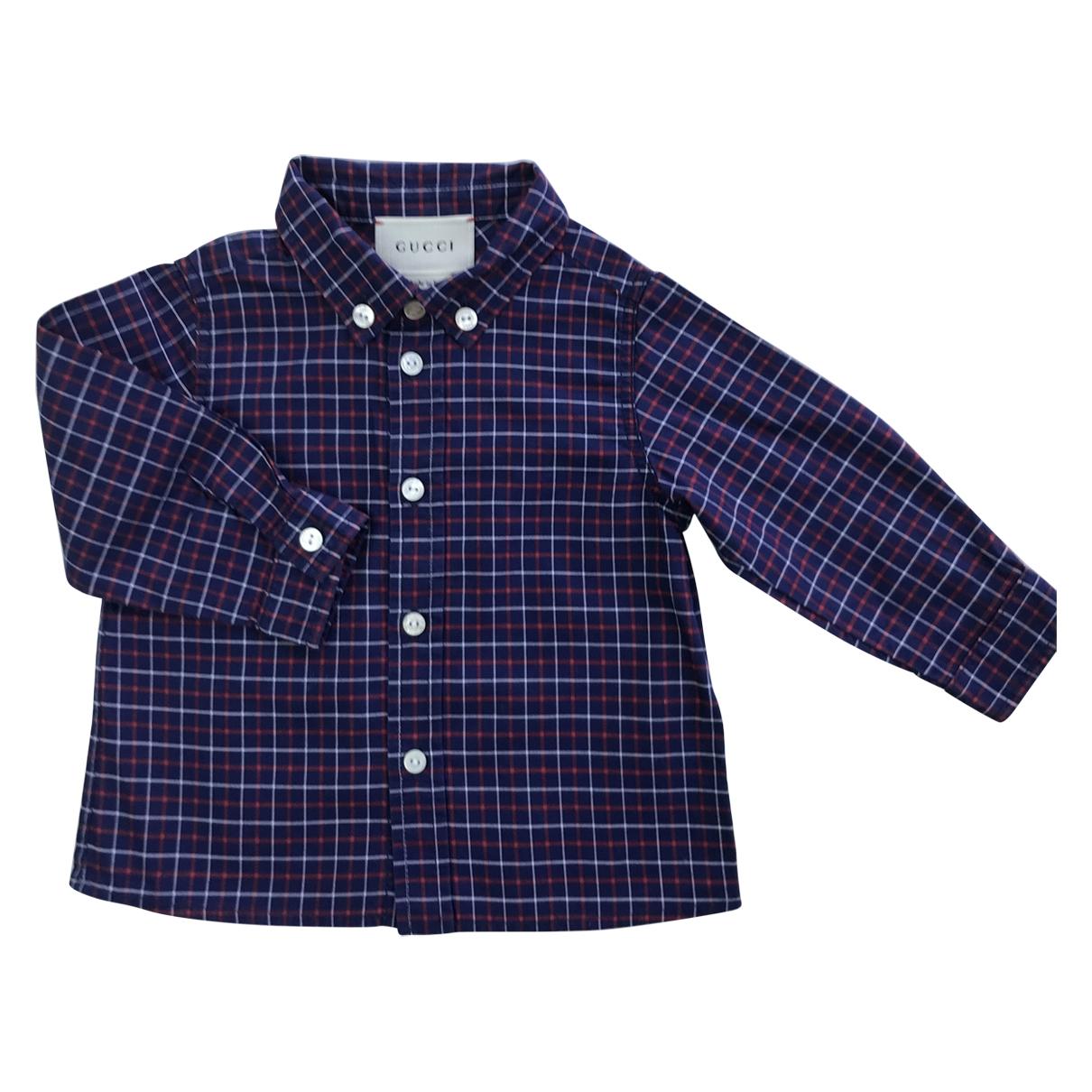 Gucci - Top   pour enfant en coton - bleu