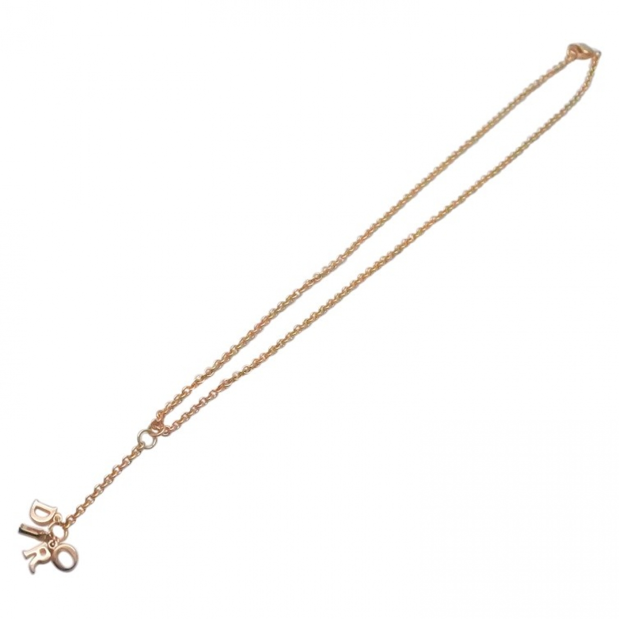 Dior - Collier Dior Oblique pour femme en plaque or - dore