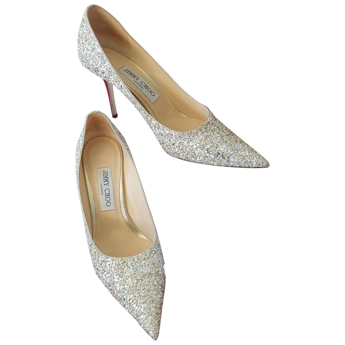 Jimmy Choo \N Silver Glitter Heels for Women 38.5 EU