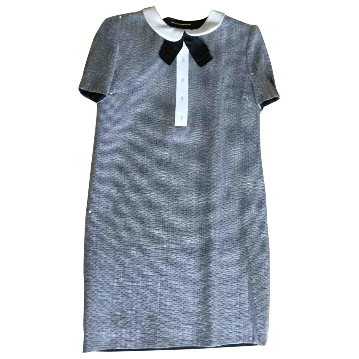 Saint Laurent \N Anthracite Wool dress for Women 36 FR