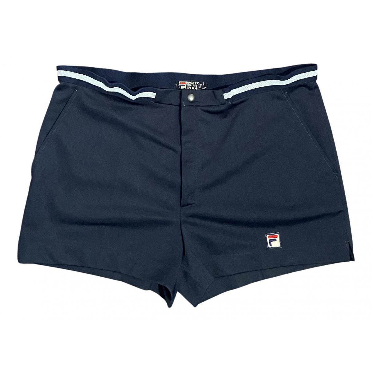 Fila \N Shorts in  Blau Polyester