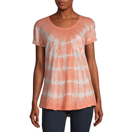 a.n.a-Womens Round Neck Short Sleeve T-Shirt, X-small , Orange
