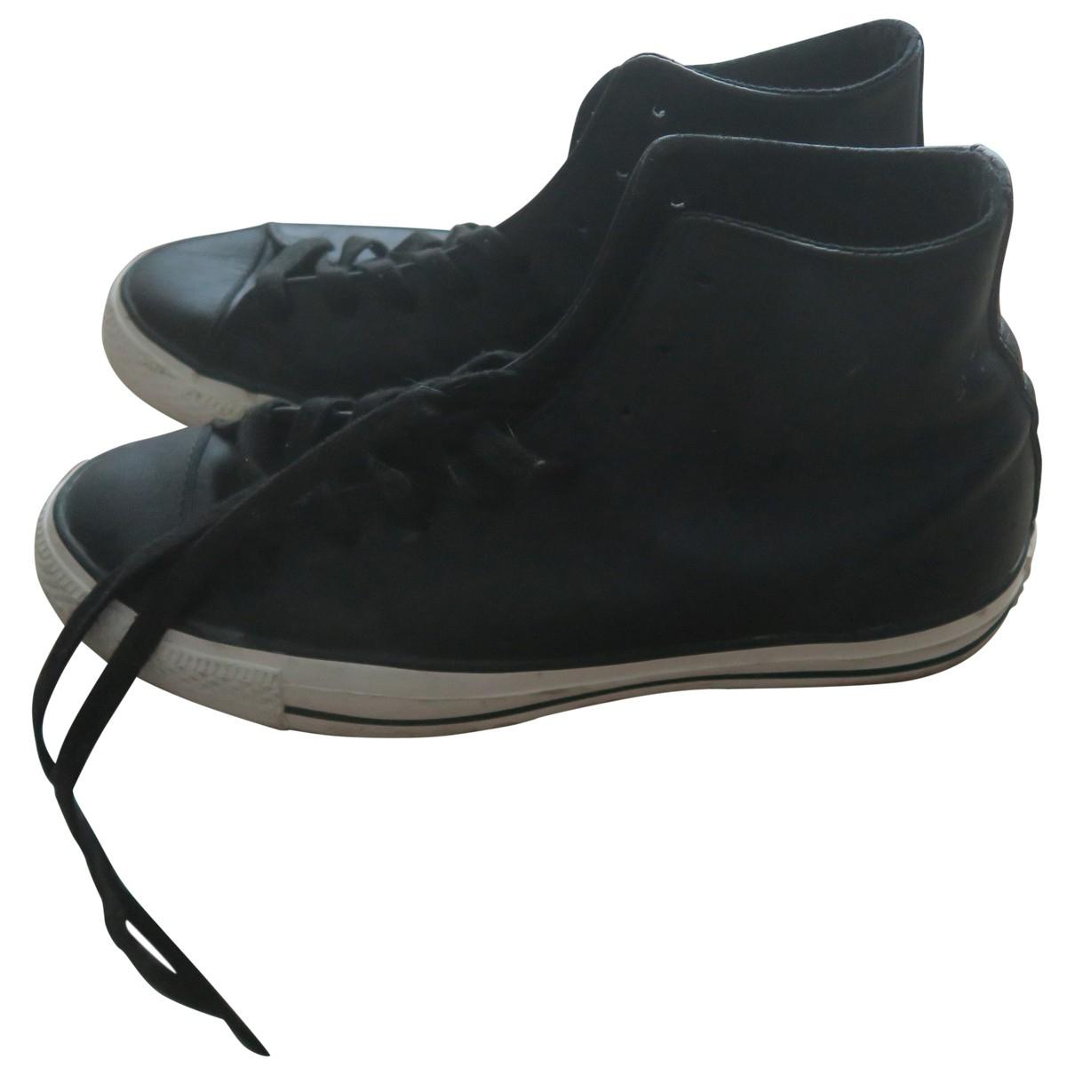 Converse \N Schnuerschuhe in  Schwarz Leder