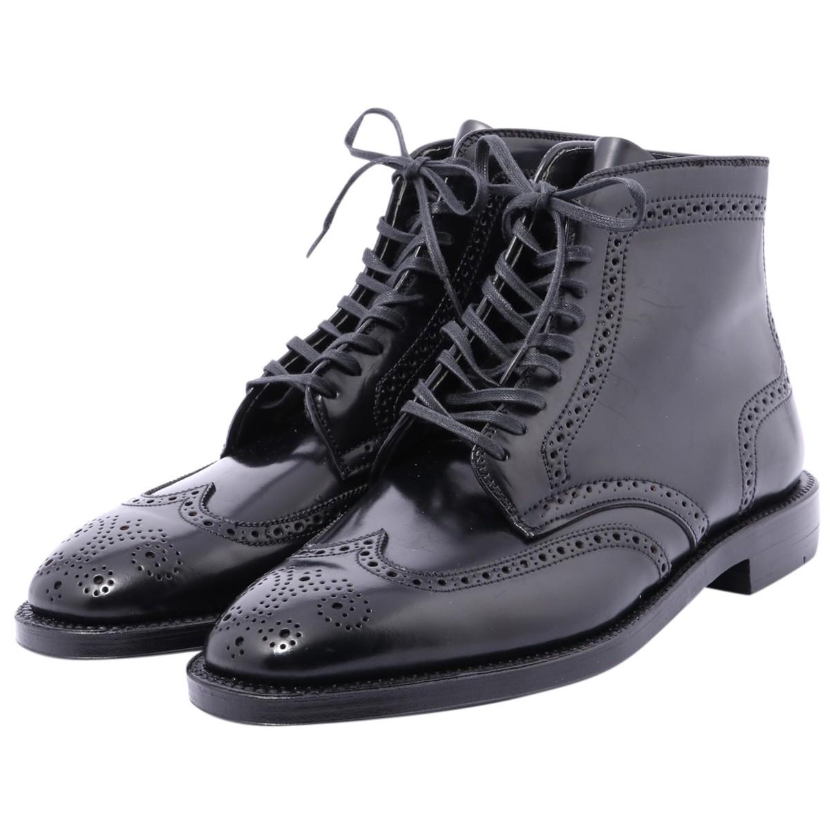 Alden N Black Leather Boots for Men 8 US