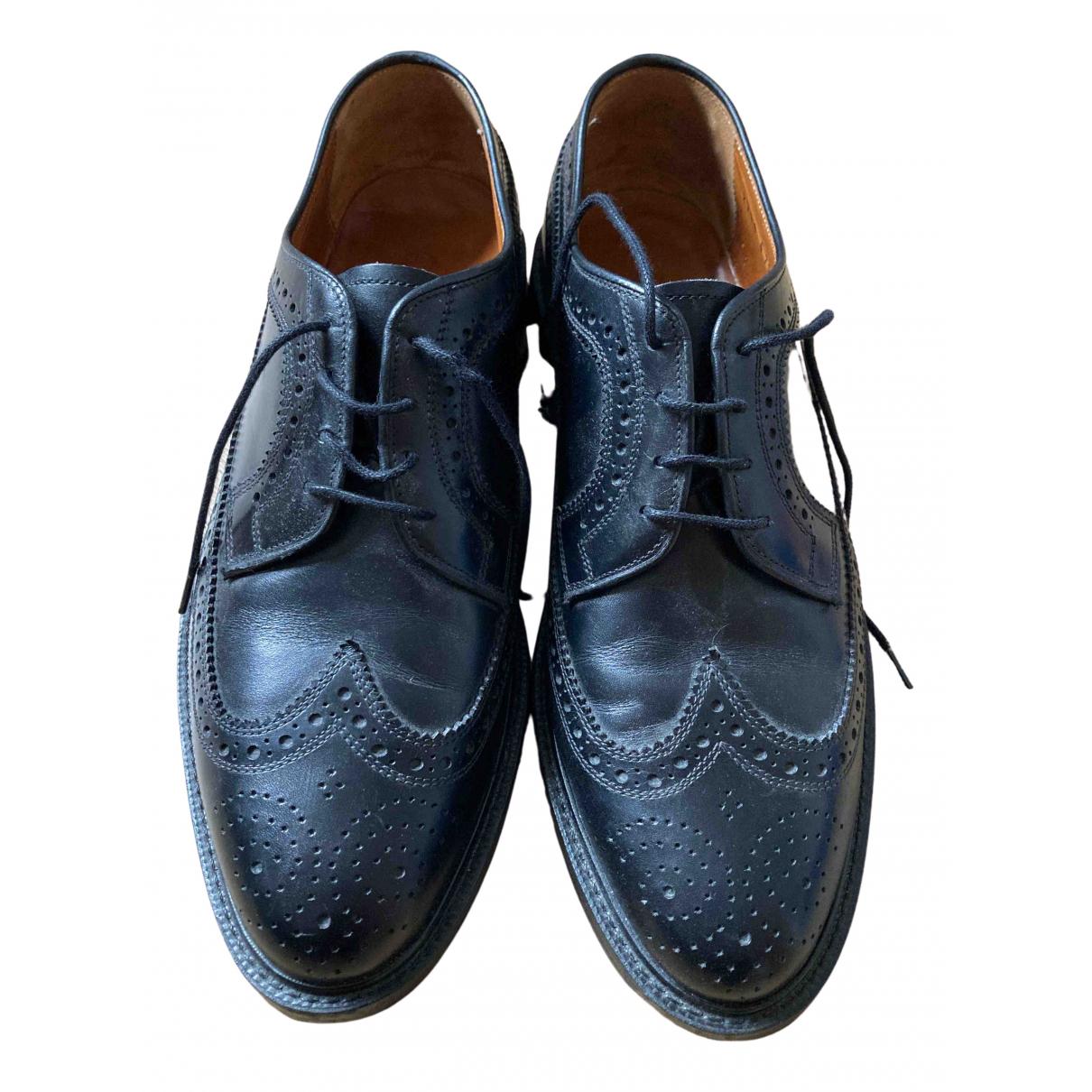 - Derbies   pour homme en cuir - noir