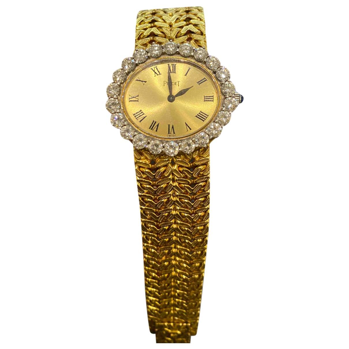Piaget - Montre   pour femme en or jaune - jaune