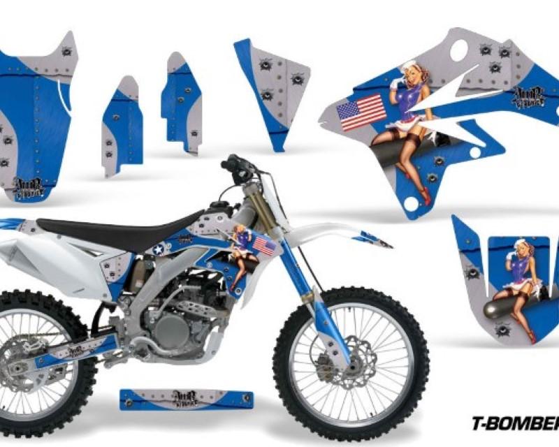 AMR Racing Dirt Bike Graphics Kit Decal Sticker Wrap For Suzuki RMZ250 2007-2009áTBOMBER BLUE