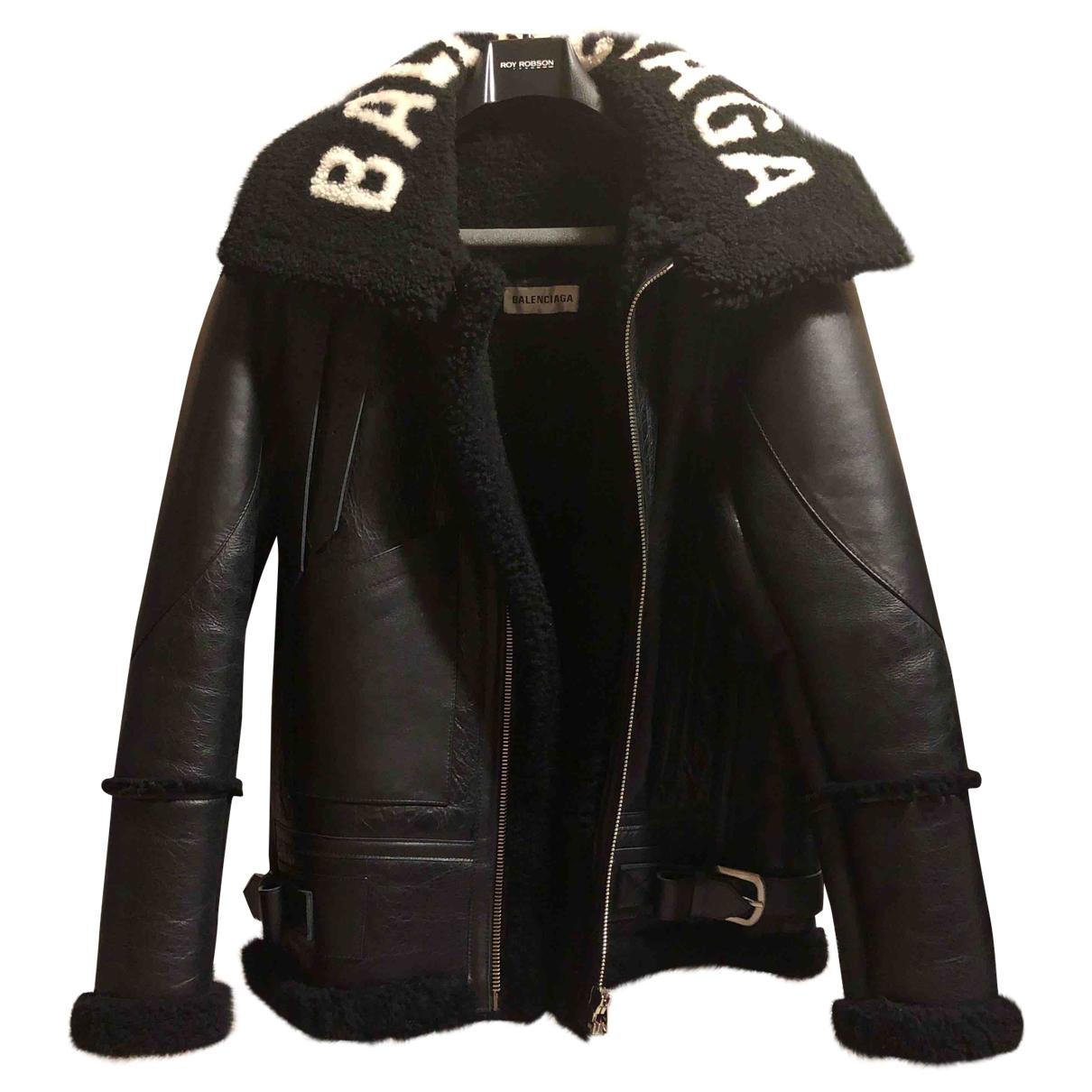 Balenciaga - Veste   pour femme en mouton - noir