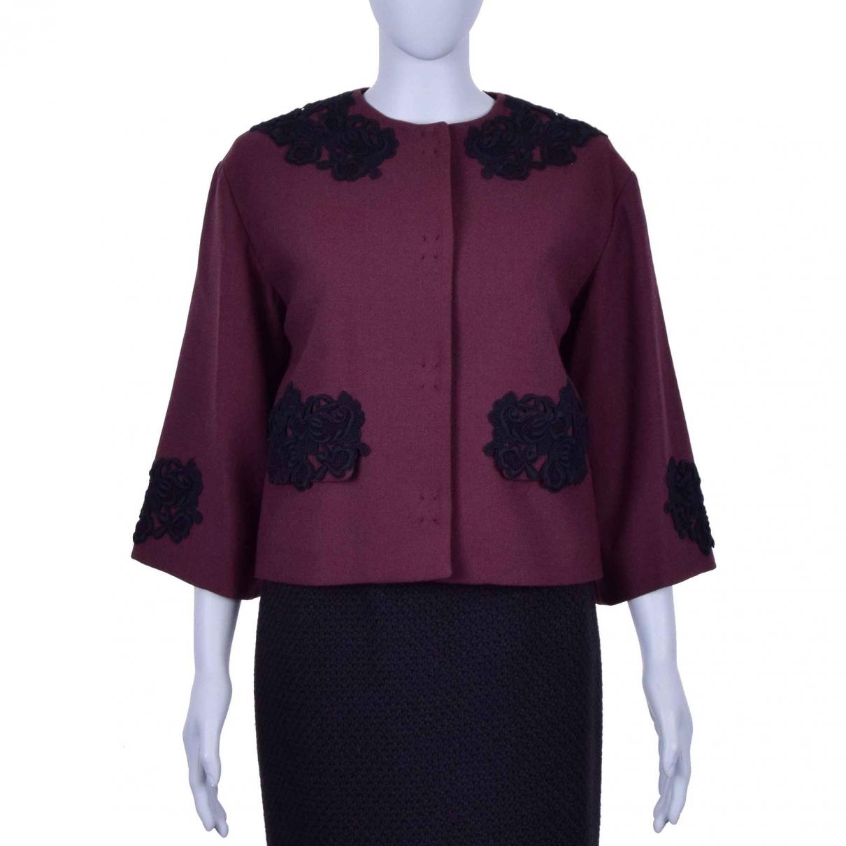 Dolce & Gabbana \N Burgundy Wool jacket for Women 46 IT