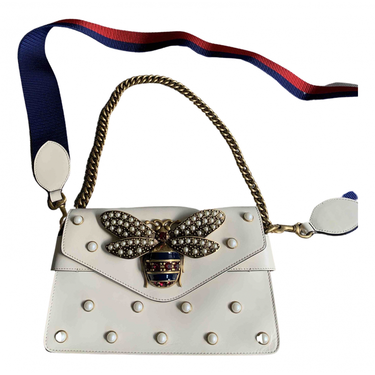 Gucci Broadway Handtasche in  Weiss Leder