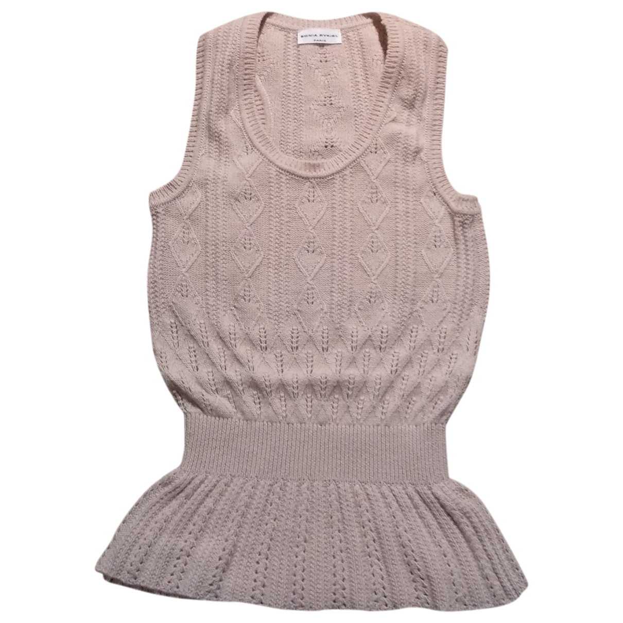 Sonia Rykiel \N Top in  Beige Wolle