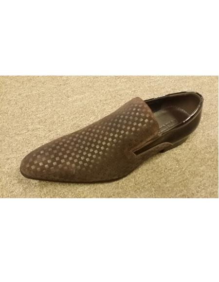 Mens Black Slip On Leather Cushioned Insole Shoe