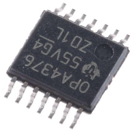 Texas Instruments OPA4376AIPW , Op Amp, 5.5MHz, 3 V, 5 V, 14-Pin TSSOP