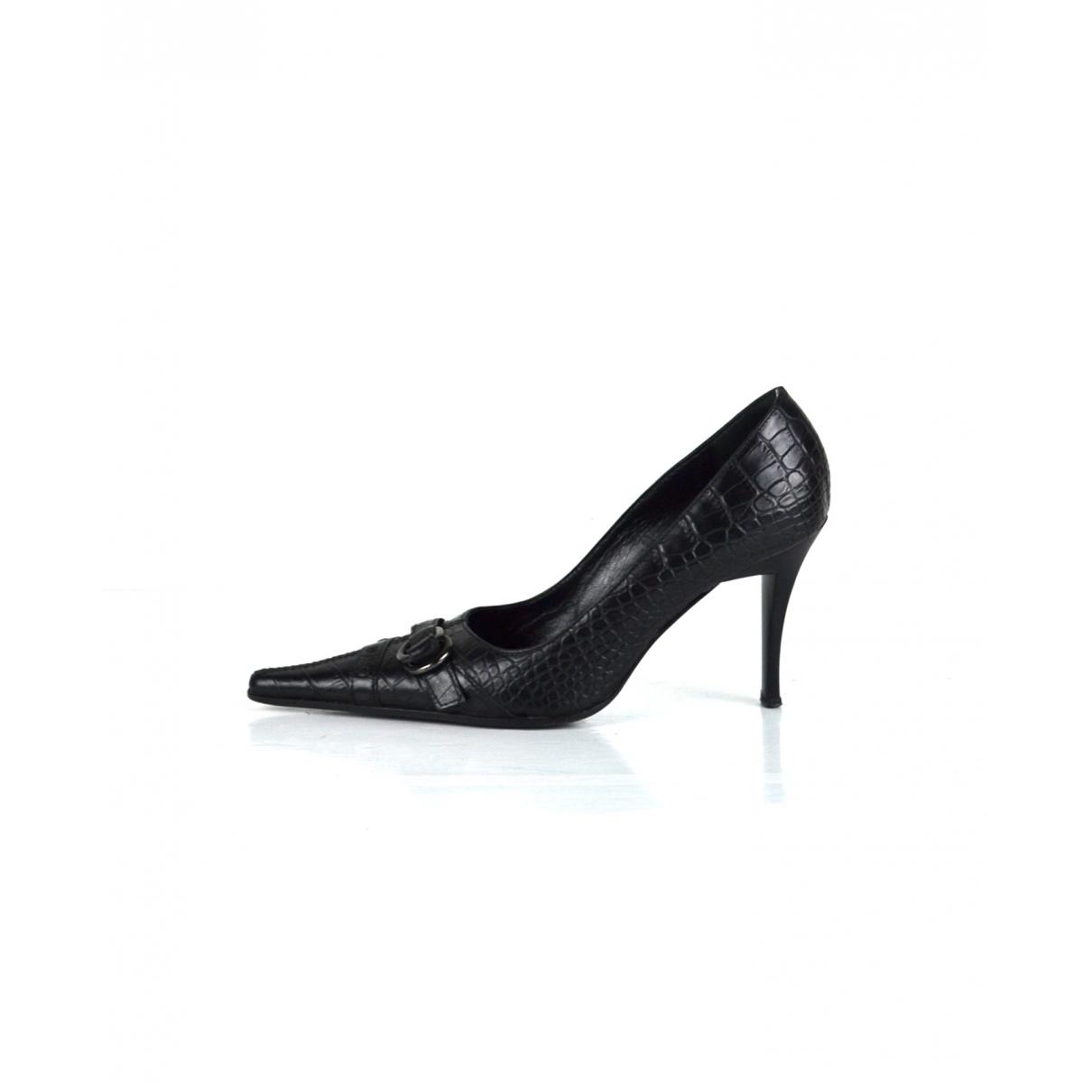 Cerruti \N Black Leather Heels for Women 39 EU