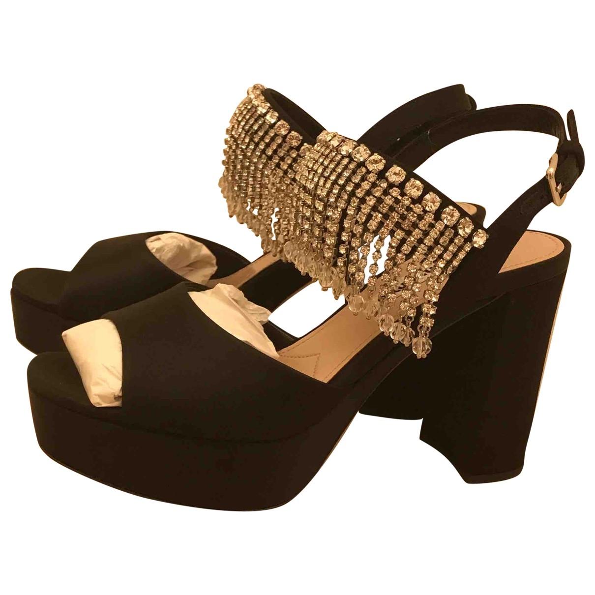 Sandalias de Lona Miu Miu