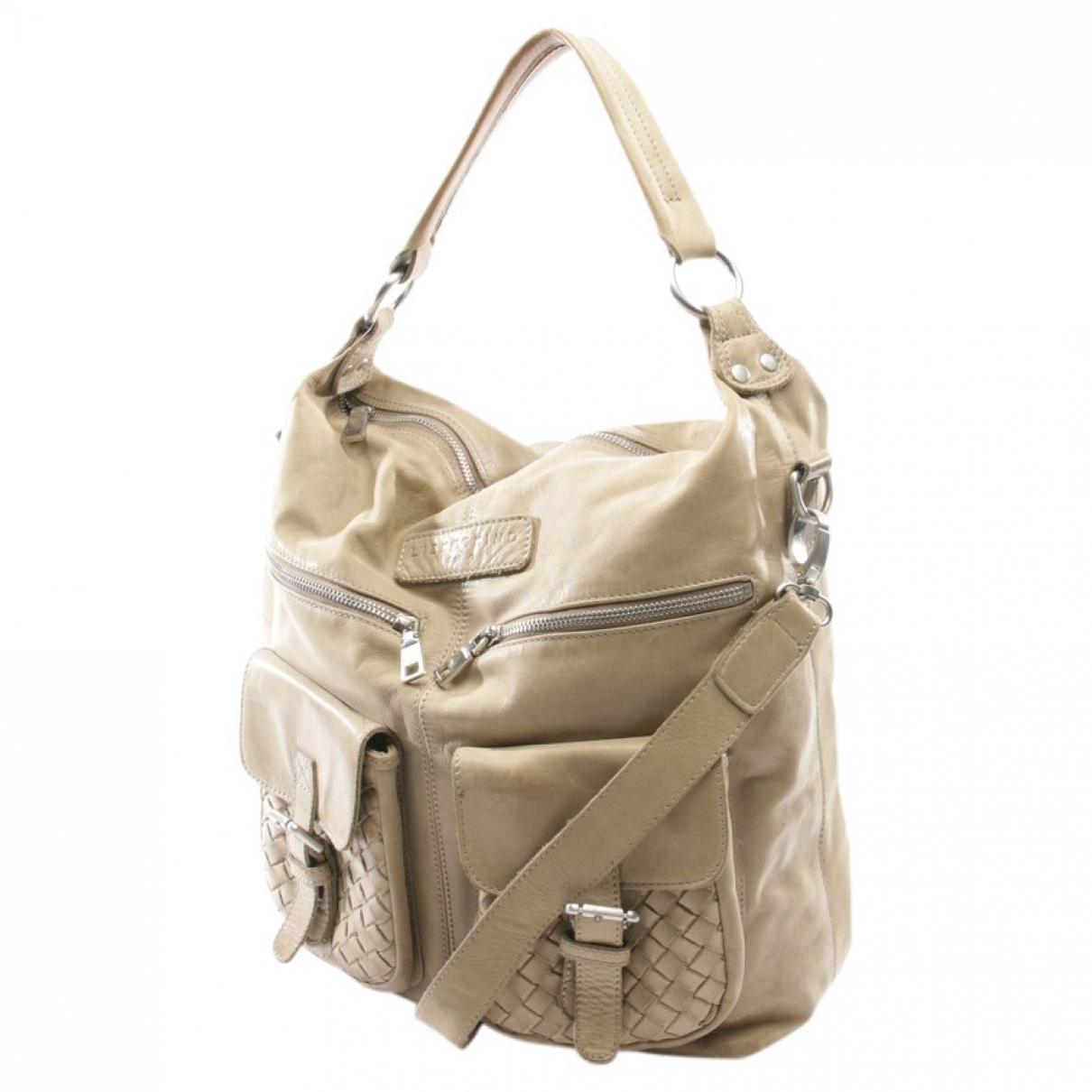 Autre Marque \N Beige Leather handbag for Women \N