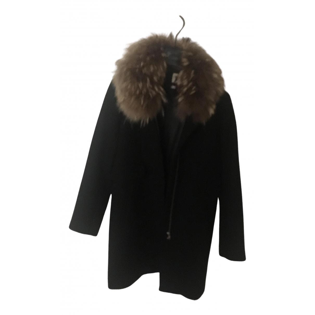 Stella Forest - Manteau   pour femme en laine - noir