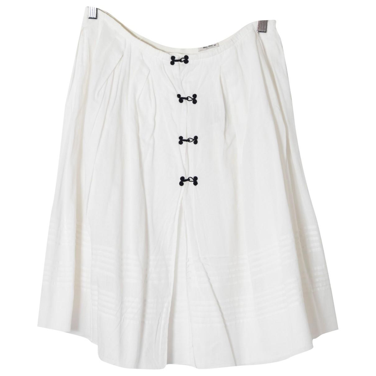 Miu Miu \N White Cotton skirt for Women 40 IT
