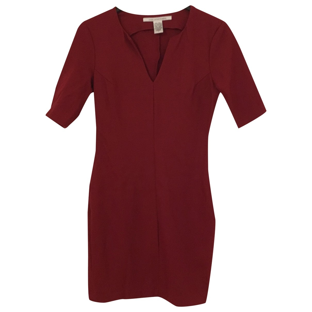 Diane Von Furstenberg \N Red Wool dress for Women 4 US