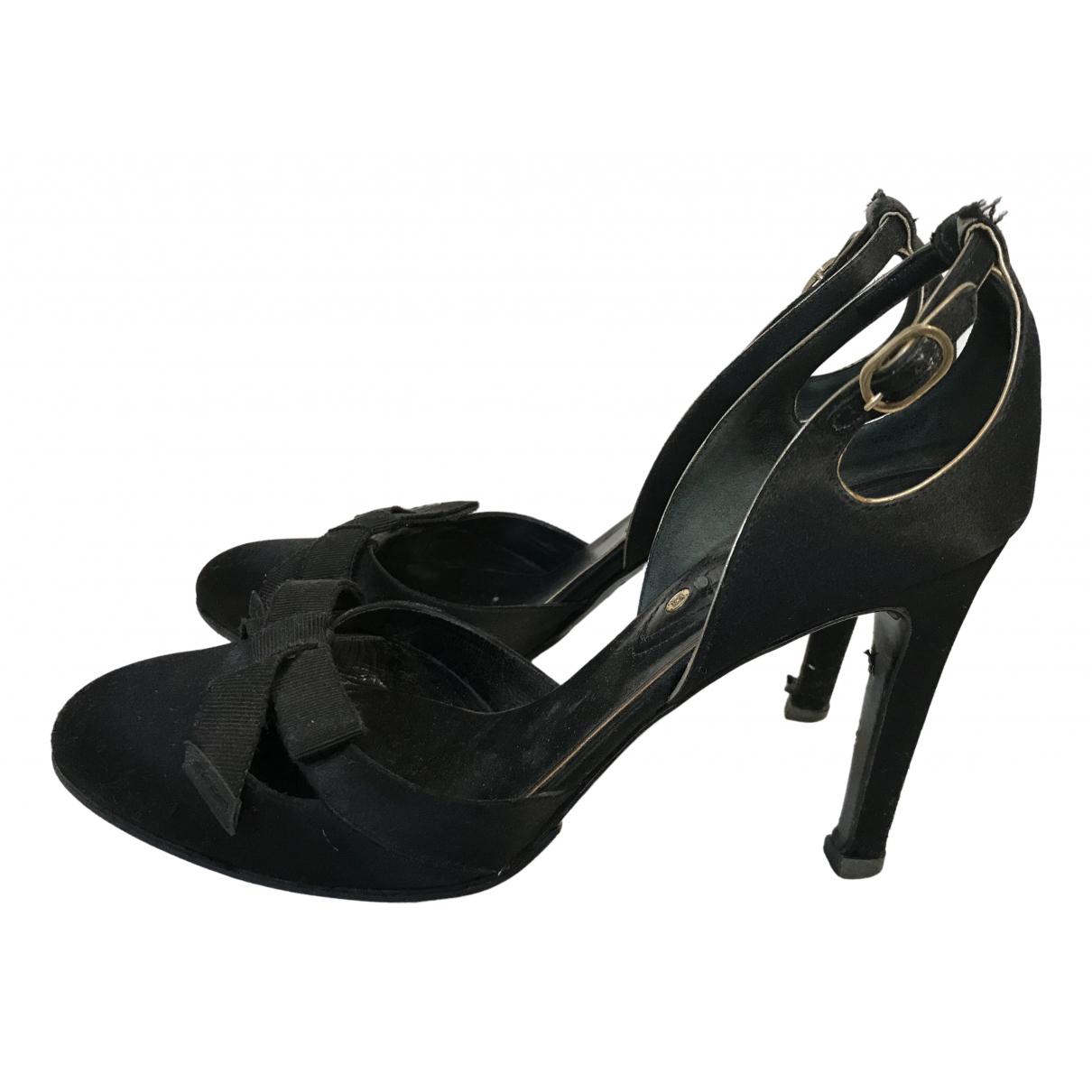 Celine \N Black Suede Heels for Women 36.5 EU