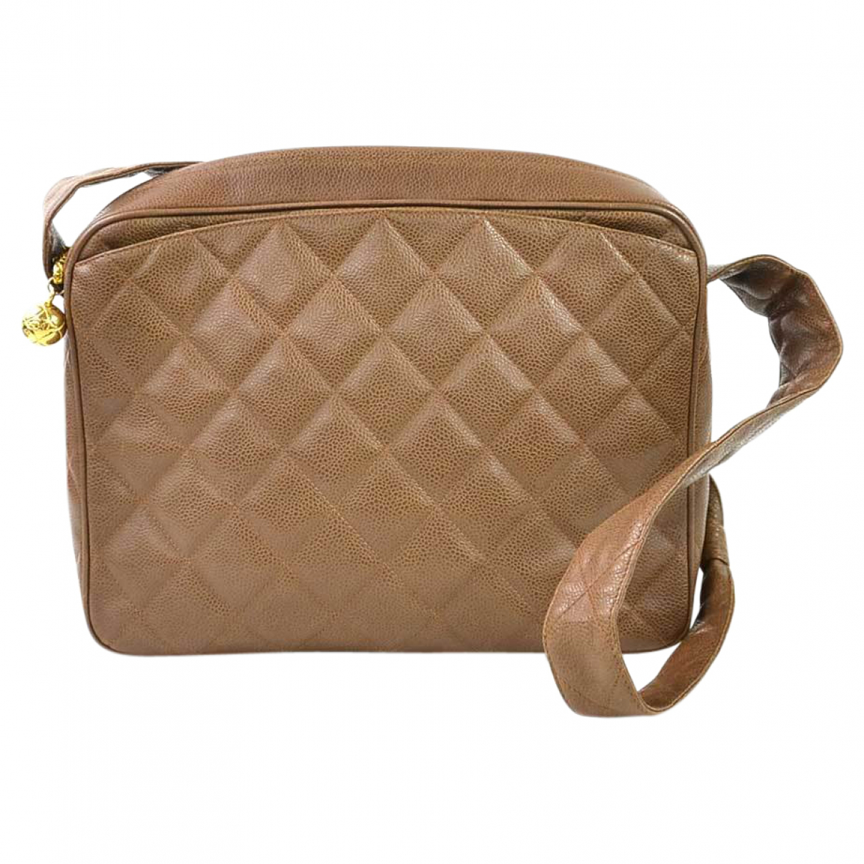 Chanel - Sac a main   pour femme en cuir - marron