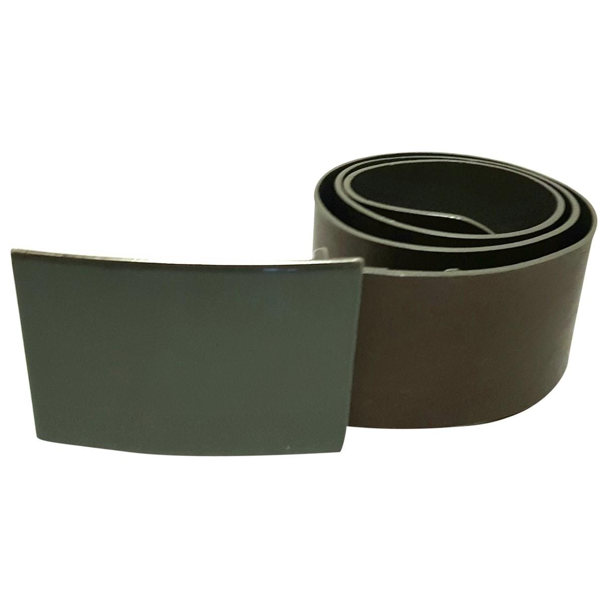 Sport Max \N Khaki Leather belt for Women 80 cm