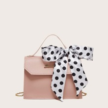 Handtasche mit Kette & Twilly Schal