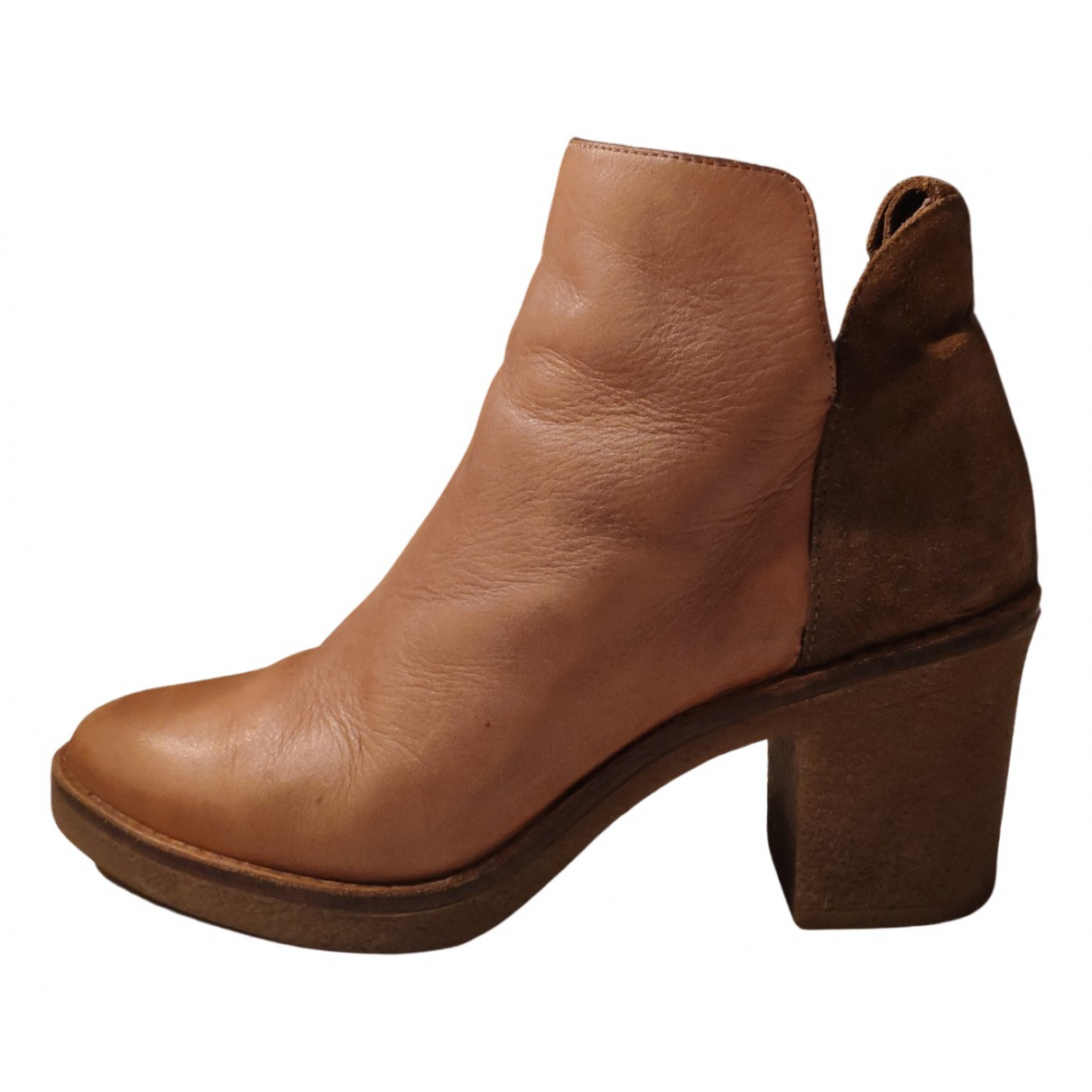 Miista - Bottes   pour femme en cuir - camel