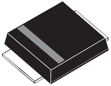 STMicroelectronics 40V 3A, Schottky Diode, 2-Pin SMBflat STPS3L40UF (25)