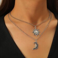 2 Stuecke Halskette mit Sonne Anhaenger