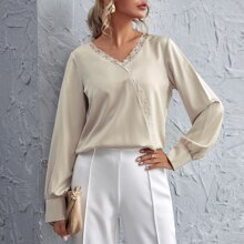 Lace Trim Solid Top