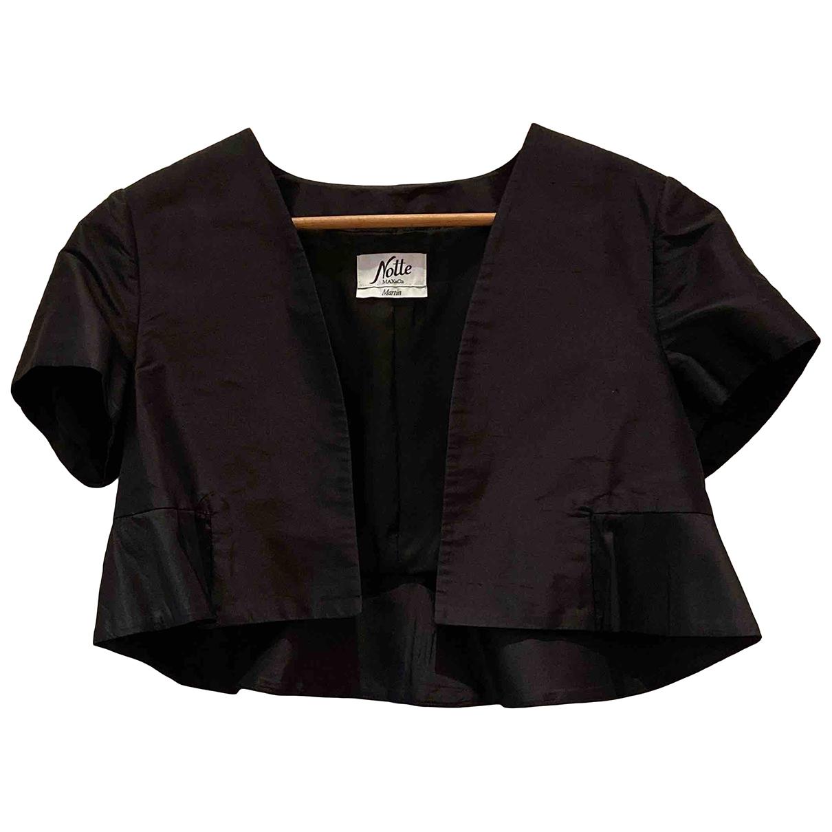 Max & Co \N Black Silk jacket for Women 44 IT