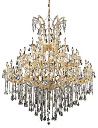 2801G60G/SS 2801 Maria Theresa Collection Large Hanging Fixture D60in H72in Lt: 48+1 Gold Finish (Swarovski Strass/Elements